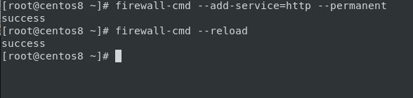 firewall service is running , allow HTTP service