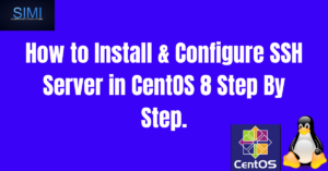 install and configure ssh on centos 8