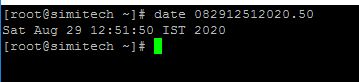 change Date and In Linux/Centos8 through Terminal