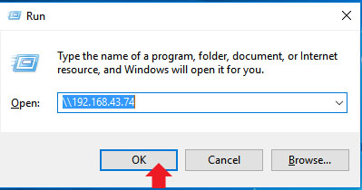 Access samba share Directories from windows computer by IP
