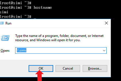 Access samba share Directories from windows computer by name