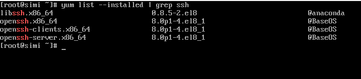 Check SSH Packages Install or not in CentOS 8