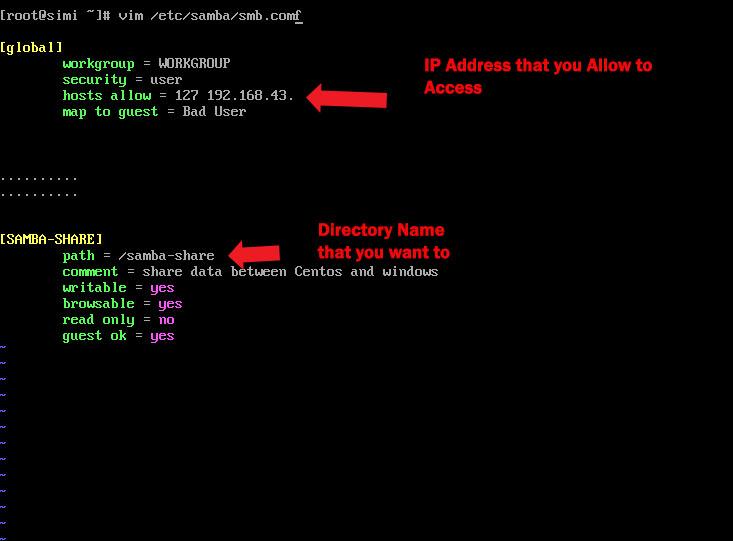 samba server configuration file