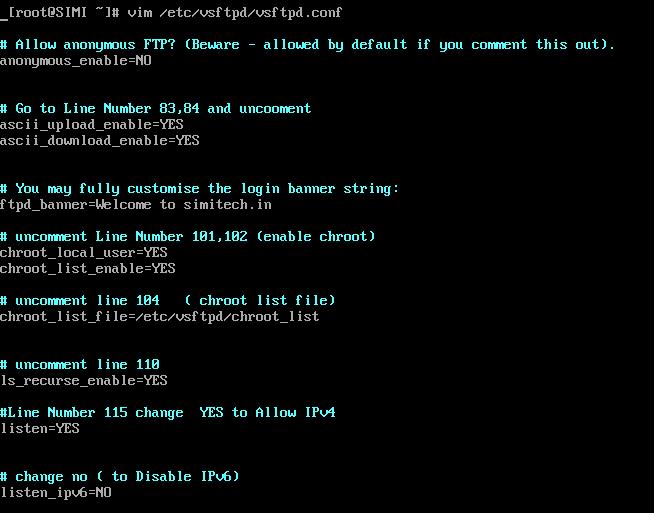 Configure Of  FTP Server