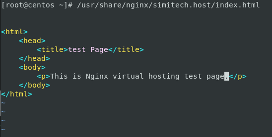 Nginx Test Index Page