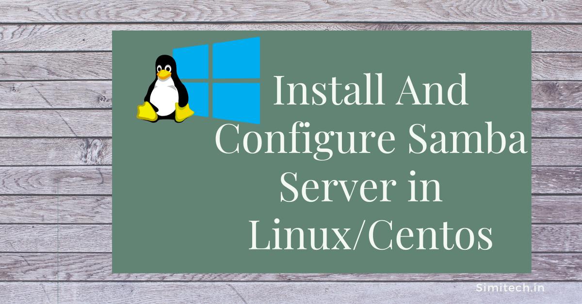 Samba server in linux
