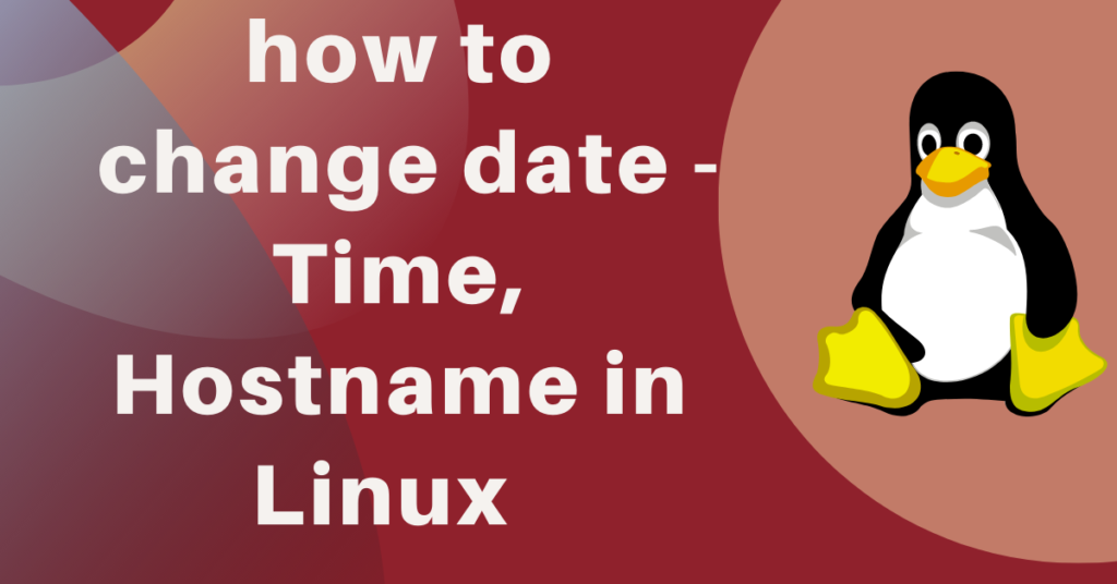 how to change date in linux