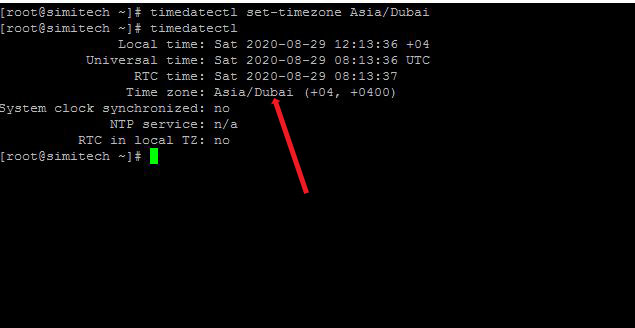 Change TimeZone In Centos/Linux 8
