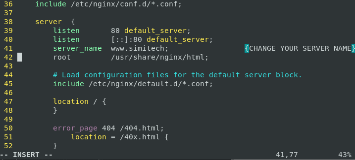 Configure Of Nginx Server In Centos 8