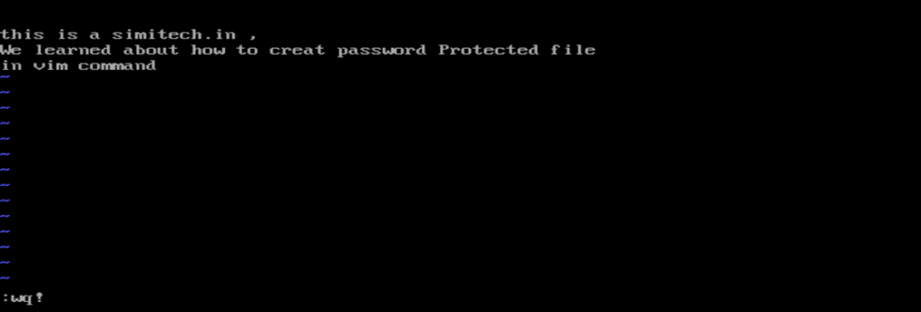 save password protected  file in VIM Text Editor
