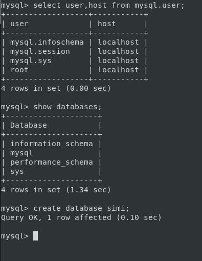 Create Database in Mysql
