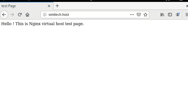 nginx virtual host test page Output Through Browser