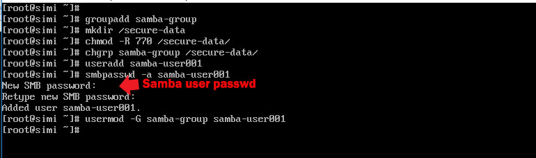 add Group ,change permission,ownership and add user for samba server