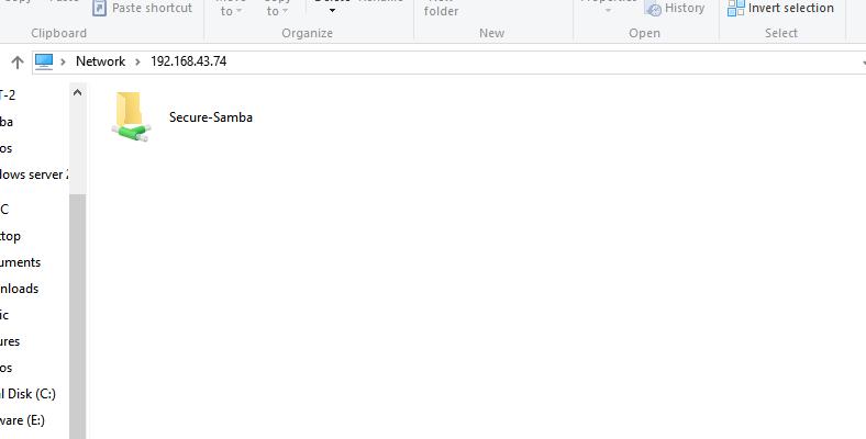 Access samba share directory
