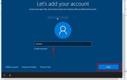 Create User Account how to install windows 10 from Pendrive