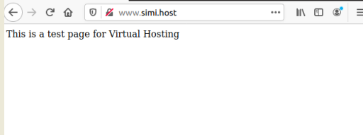 Check virtual hosting test page on Ubuntu20.04