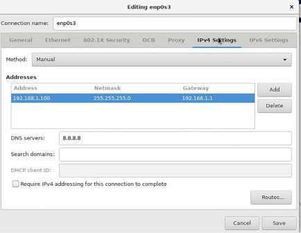 Set IP Address when Install Centos8