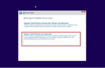 choose installation Type how to install windows 10 from Pendrive