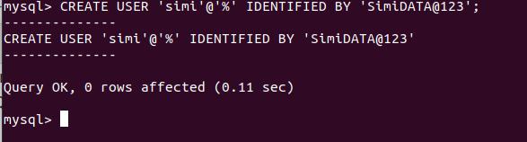 Create User In Ubuntu MySQL with All Priviledge