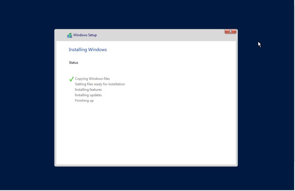 Process of windows Server  2016 Installation