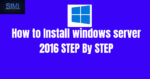 how to install windows server 2016 from ISO file