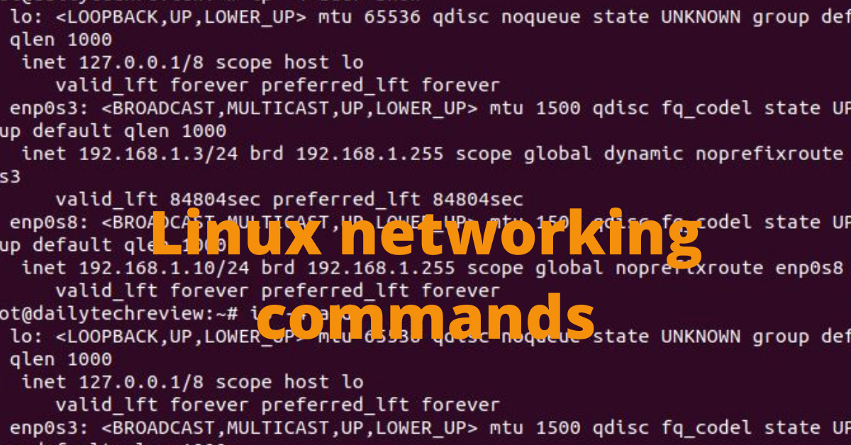 Linux networking commands