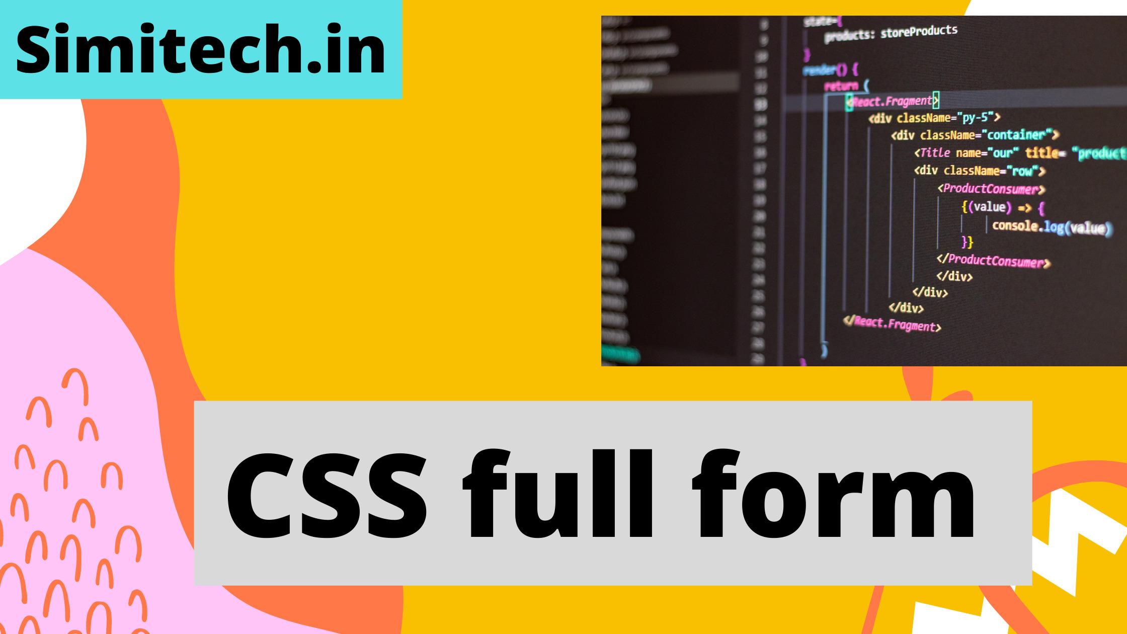 CSS full form